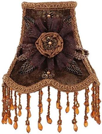 Baroque Collection Pince pour abat-jour en tissu Marron 14 cm 13 x 14 x 14 cm