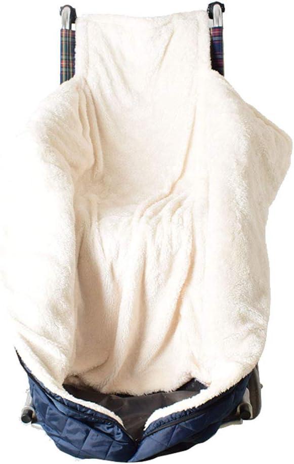 Manta para Silla de Ruedas, Cremallera Techo Silla Ruedas por la Parte Inferior del Cuerpo Caliente Mantenga los Accesorios cálido y Acogedor
