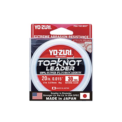 Yo-Zuri Topknot 30 yd Sinking Leader, Natural Clear, 20 lb