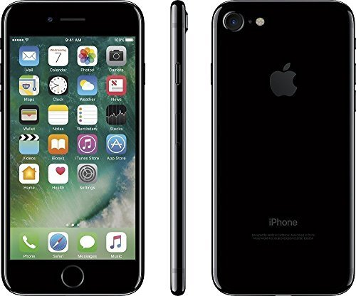 new product 881aa 75669 Apple iPhone 7, GSM Unlocked, 128GB - Jet Black (Renewed)