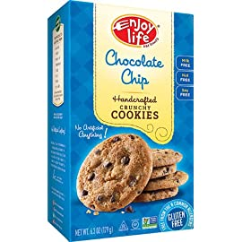 Enjoy Life Cookies 28 Packaging may vary Contains 6 boxes - 14 cookies per box Verified Non-GMO, Allergy-Friendly, Certified Gluten-Free, Vegan, Kosher, Halal.