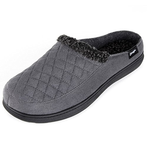 Zigzagger Men's Suede Fabric Memory Foam Slippers Slip On Clog House Shoes Indoor/Outdoor by Zigzagger (Image #1)
