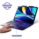 Keyboard Case for iPad Pro 12.9 2018-3rd Gen - Touchpad Keyboard Compatible with iPad Pro 12.9 - Backlight Keyboard for Tablet - Protection Wireless Tablet Keyboard - Pencil Holder Included