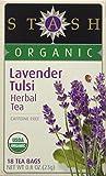 Stash Premium Organic Lavender/Tulsi Herbal Tea, 18 Tea Bags