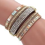 Best Welcomeuni 1340 Of The Bangles - Welcomeuni Women Bohemian Bracelet Woven Braided Handmade Wrap Review