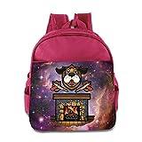Dog Fireplace Christmas Kids Backpack School Bag For Boys/girls Pink