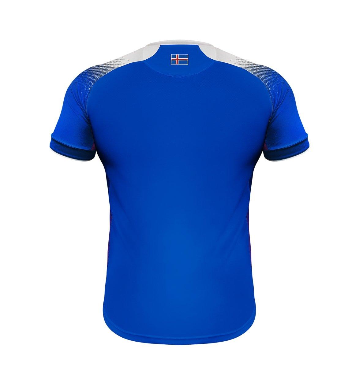 Errea Mens Iceland Home World Cup 2018 Russia Football Shirt