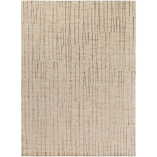 Julie Cohn by Surya Shibui SH-7402 Contemporary Hand Knotted 100% Semi-Worsted New Zealand Wool Caramel 8' x 11' Abstract Area - Hand Shibui Knotted Rug