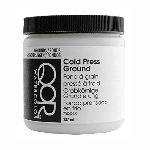Golden QoR Watercolor Cold Press Ground White 8 Oz ()