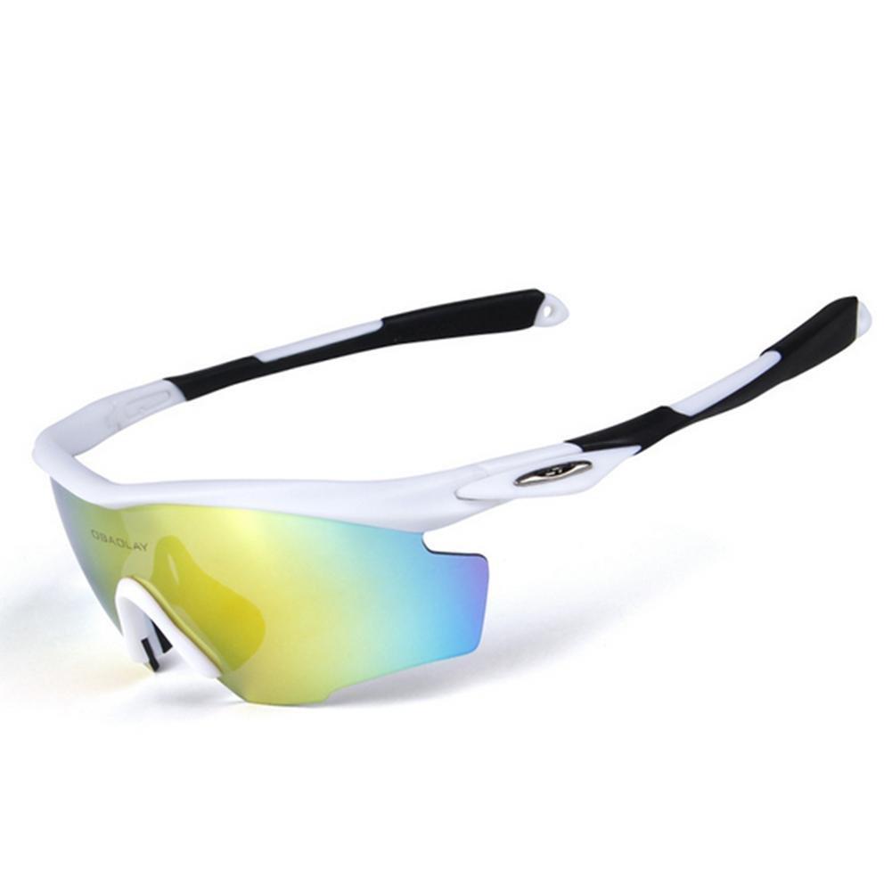 DZW Männer und Frauen Sport Outdoor winddicht Sand polarisiert Flügel Reiten Brille , Weiß schwarz