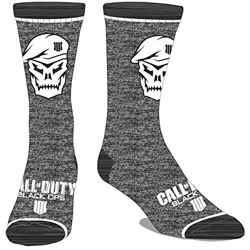 COD Black Ops 4 Crew Sock Skull Grey from Bioworld