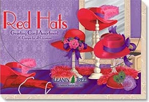 Hat Stationery (Red Hats - Greeting Card Assortment by Leanin' Tree - 20 cards designed with Red Hat Society Ladies in Mind)