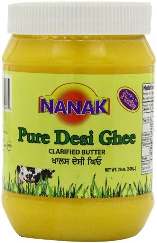 Nanak Pure Desi Ghee, Clarified Butter, 28-Ounce Jar by Nanak