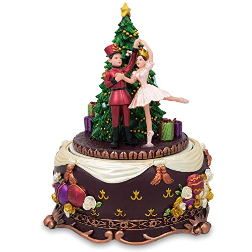 BestPysanky Nutcracker and Dancing Ballerina Christmas Music Box
