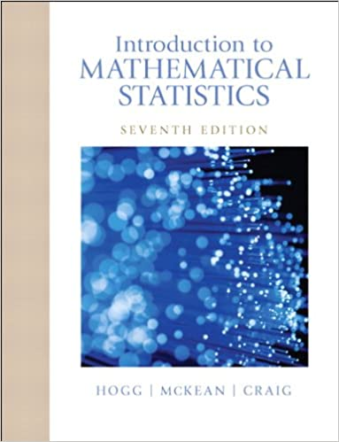 Introduction To Mathematical Statistics 7th Edition Pdf