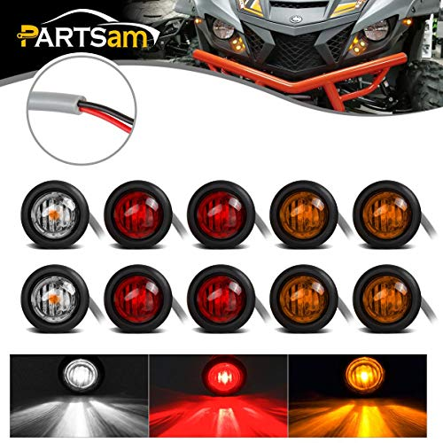 Partsam Universal UTV ATV Led Turn Signal Lights Kit Street Legal, 8Pcs Front Rear 3/4
