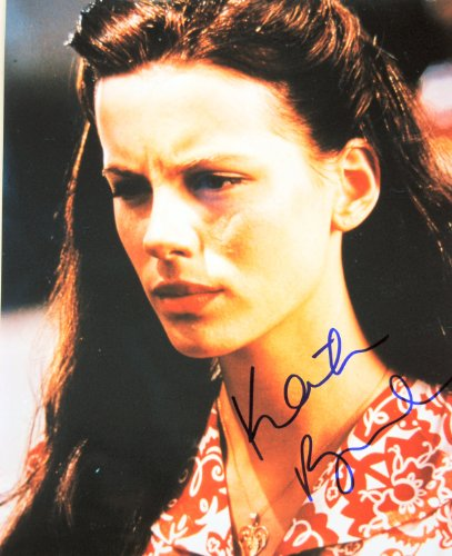 2002 - Kate Beckinsale Autographed 8x10 Color Photo - Signed in Blue Sharpie - Obtained in Person - From Pearl Harbor - Total Recall / Underworld / Van Helsing / Much Ado About Nothing - Rare - Out of Print - Collectible (Kate Beckinsale In Much Ado About Nothing)