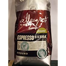 Allegro Coffee - Organic Espresso Sierra, Ground Coffee, 12 oz, (Pack of 3)