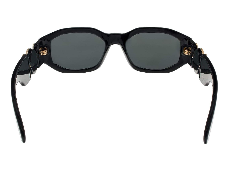 402b61a30c9a1 Amazon.com  Versace Sunglasses Black Grey Nylon - Non-Polarized - 53mm   Clothing