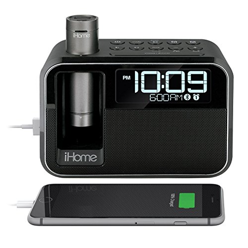 iHome Kineta Dual Charging Alarm Clock Radio with Portable P