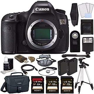 Canon EOS 5DS DSLR Camera (Body Only) + Battery + Sony 128GB SDXC Card + Sony 64GB SDXC Card + Canon EOS Shoulder Bag 100ES + Tripod + Flash + Remote + HDMI + Camera Neck Strap Bundle