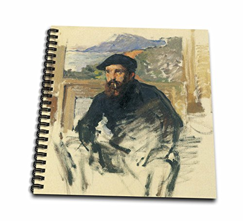 1884 Portrait Portrait (3dRose db_126605_2 Self-Portrait in His Atelier by Claude Monet, 1884 Memory Book, 12 by 12-Inch)