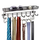 mDesign Closet Wall Mount Men's Accessory Storage