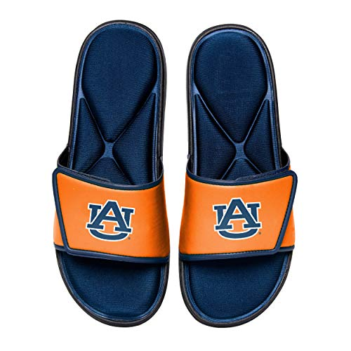 Tigers Flip Flop Sandals - NCAA Auburn Tigers Mens Deluxe Foam Sport Shower Slide Flip Flop SandalsDeluxe Foam Sport Shower Slide Flip Flop Sandals, Team Color, Medium/Mens Size 9-10