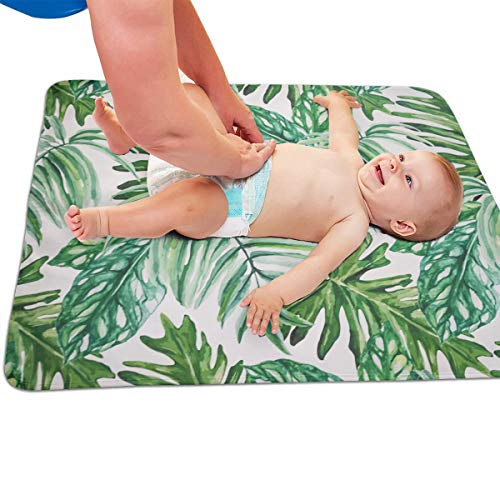 V5DGFJH.B Baby Portable Diaper Changing Pad Tropical Plant Banana Tree Leaves Urinary Pad Baby Changing Mat 31.5″ x25.5""