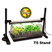"Mini Greenhouse & Light Stand kit for Germination and Propagation includes 18"" T5 HO Fluorescent, Nano Reflector, Nano Dome, Quadruple thick Plant Tray & T5HO Light Stand by SunBlaster"