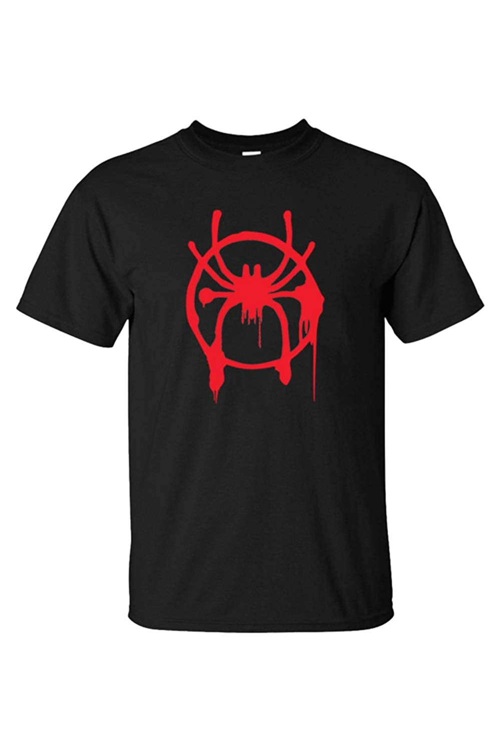 Adult Miles Morales Thicken Into The Spiderverse Hooded Pullover Top Black Shirts