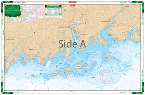 Waterproof Charts, Large Print, 26E Long Island Sound New Rochelle to Norwalk