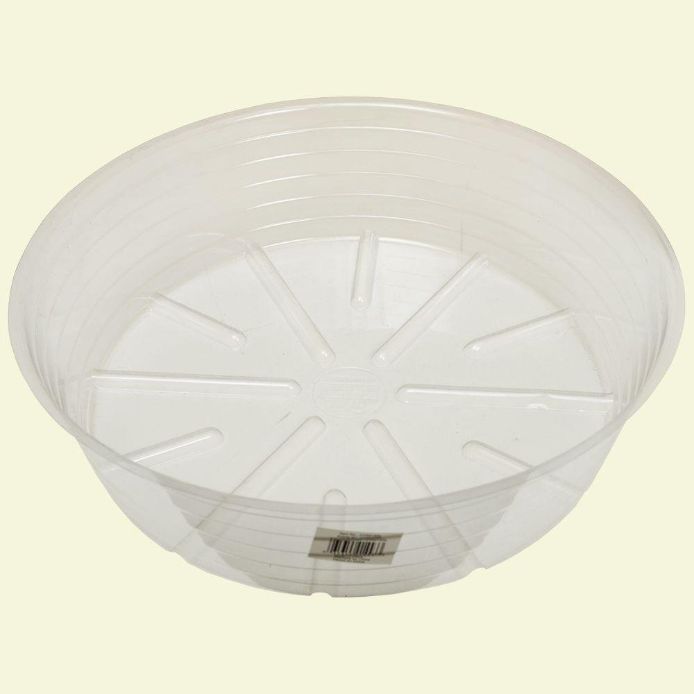 Bond Manufacturing 15 in. Deep Clear Plastic Saucer by Bond Manufacturing