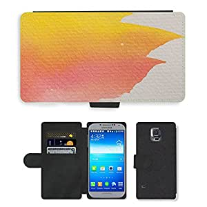 PU LEATHER case coque housse smartphone Flip bag Cover protection // M00152696 Acuarela Pintura Técnica // Samsung Galaxy S5 S V SV i9600 (Not Fits S5 ACTIVE)