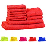 Trident Neon Orange 10 Pcs Towel Set