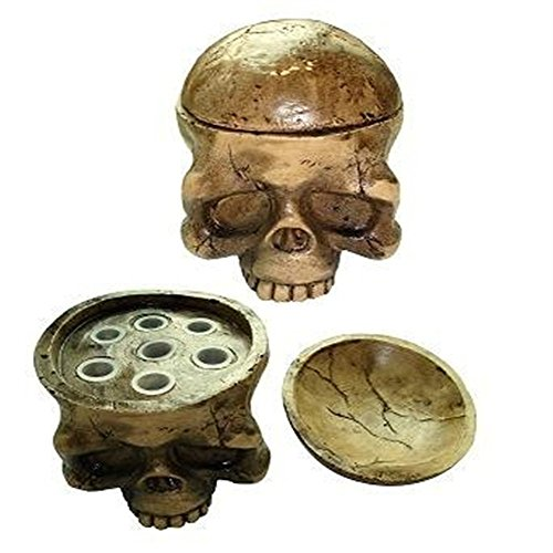 (1 x HARD RESIN MADE SKULL TATTOO INK CAP HOLDER)