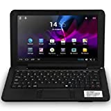 eForprice 9'' Mini Notebook Laptop Netbook Android 4.2 4GB Storage VIA 8880 Dual-Core Cortex-A9 1.5ghz Wifi Windows Hd Solid Black Mini Laptop 9 Inch Netbook Notebook Computer Tablet Pc, Installed Wifi and Camera, Watch News, Youtube Facebook Twitter, Supp