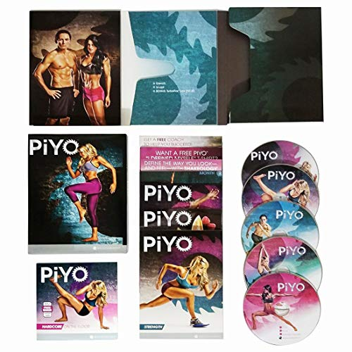 (CJ PiYo Base Kit 5 DVDs Weight Loss Exercise Video Course & Fitness Guide)