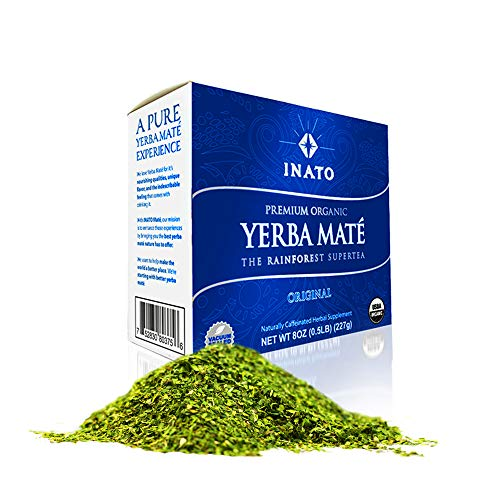 INATO PREMIUM Yerba Mate | Special Grade | Organic | Rainforest Grown | Leaf Only | Shade Grown | Air Dried | Single Producer | NO Sticks | NO Dust | Green Energy Boost (38 Servings)