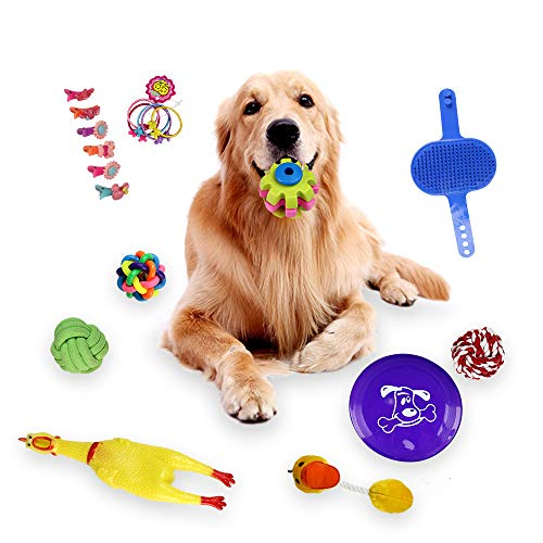 18pcs Dogs Grind Their Teeth and Bite Toys Resistance to bite Toys Pet Toys ()