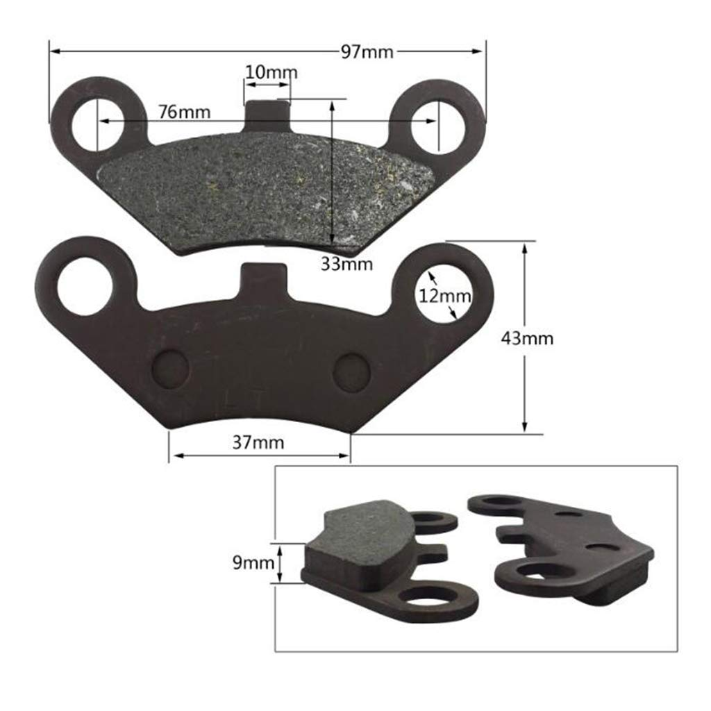 Homyl Front Rear Brake Pads for CF Moto CF500 500CC 600CC X5 X6 X8 U5 ATV 4x4 UTV