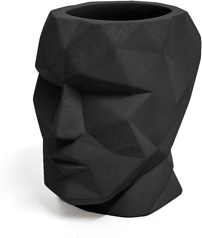 Balvi Portalápices The Head Color Negro Forma de Cabeza Silueta geométrica Cemento: Amazon.es: Juguetes y juegos
