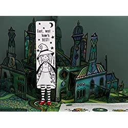 Wicked Witch babe bookmark from BABES collection. MyBookmark Ideal Gift For Everyone. Truly Handmade and Crafted With Love.