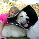 The Comfy Cone Pet Recovery Collar by All Four Paws, Extra Large, Black