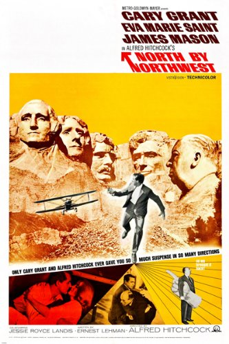 ALFRED HITCHCOCK'S NORTH BY NORTHWEST movie poster CARY GRANT new 24X36 (reproduction, not an original)