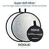 Rogue Photographic Design 2-in-1 Collapsible Reflector 32'', Super Soft Silver/Natural White (ROGUE32SW)