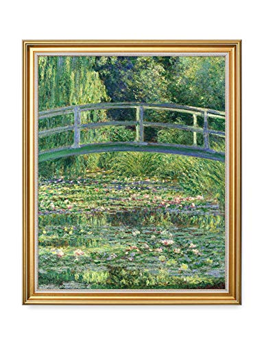 (DECORARTS - The Japanese Bridge (The Water-Lily Pond) Claude Monet Art Reproduction. Giclee Print Framed Art for Wall Decor. 16x20, Total Size w/Frame: 18.5x22.5 )