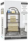 DINY Home & Style Deluxe Spa Tower 3 Tier Towel & Bathroom Accessory Rack Bronze