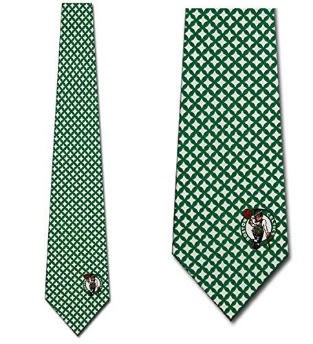 Boston Celtics Ties Mens Diamante Necktie by Eagles Wings