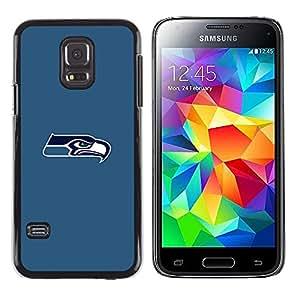 Seattle Seahawk Mínimo - Metal de aluminio y de plástico duro Caja del teléfono - Negro - Samsung Galaxy S5 Mini (Not S5), SM-G800